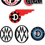 Logotypy Pannonia, Csepel, Danuvia, Manfred Weiss